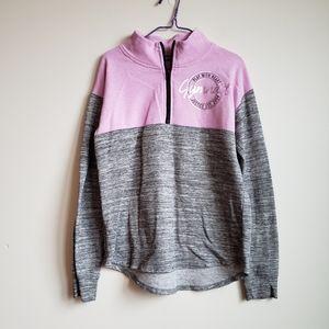 Justice Girls Gymnast Half Zip Pullover Sweatshirt